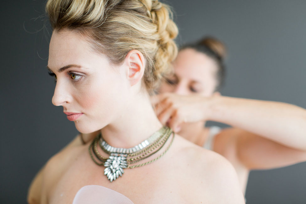 One Part RocknRoll, 2 Parts Chic The Bridal Fauxhawk Braid Wedding Hair Tutorial | Photograph by Melissa Kruse Photography