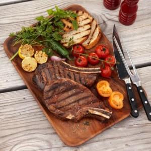 wood serving platter Food