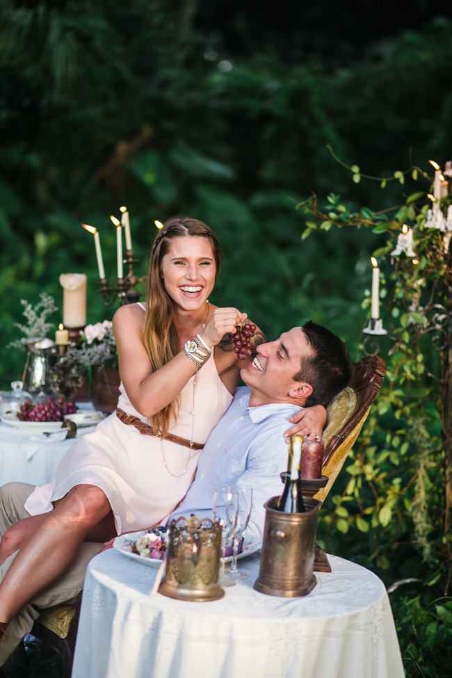 Secret Hideaway Engagement Session Filled With Goodies & Vintage Details | Photograph by Christina Maldonado Photography & Styling by Anna Jane Styling  http://storyboardwedding.com/secret-hideaway-engagement-session-vintage-details/