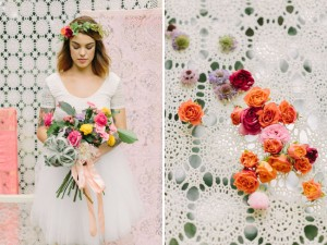 Lace Panel Ceremony Backdrop Mint Photography The Confetti Committee Bricolage Florals via Green Wedding Shoes Floral Detail