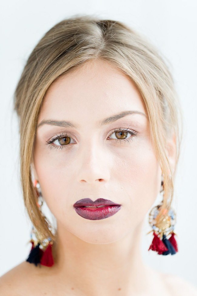 Ombre Lip Bridal Makeup Beauty by Eden Di Bianco Melissa Kruse Photography (11)