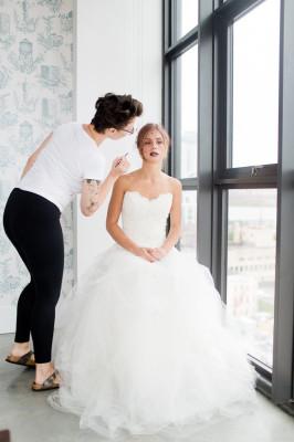 Ombre Lip Bridal Makeup Beauty by Eden Di Bianco Melissa Kruse Photography (12)