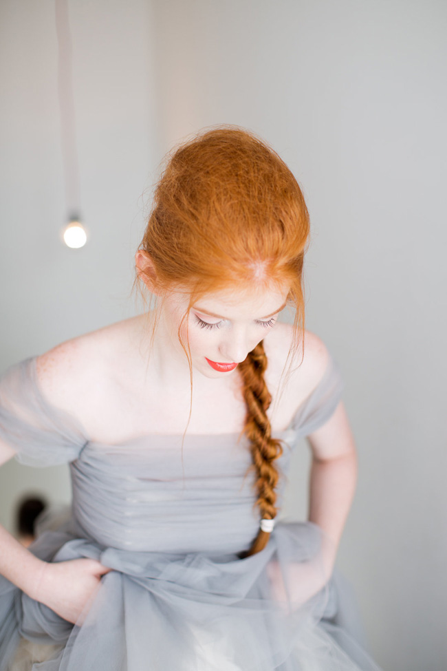 Orange Inspired Bridal Makeup In 2 Perfect Looks | Photograph by Melissa Kruse Photography | Beauty by Eden Di Bianco | Creative: Storyboard Wedding | Wedding Dress: Sareh Nouri | Venue: Wythe Hotel