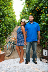 Wonderfully Darling Orchard Engagement Session At Lorimar Winery Calif...