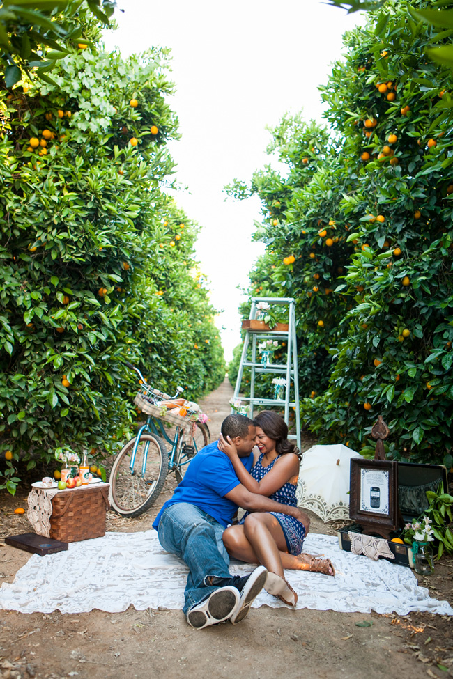 Wonderfully Darling Orchard Engagement Session At Lorimar Winery California | Photograph by Leah Marie Photography  http://storyboardwedding.com/orchard-engagement-session-lorimar-winery-california/