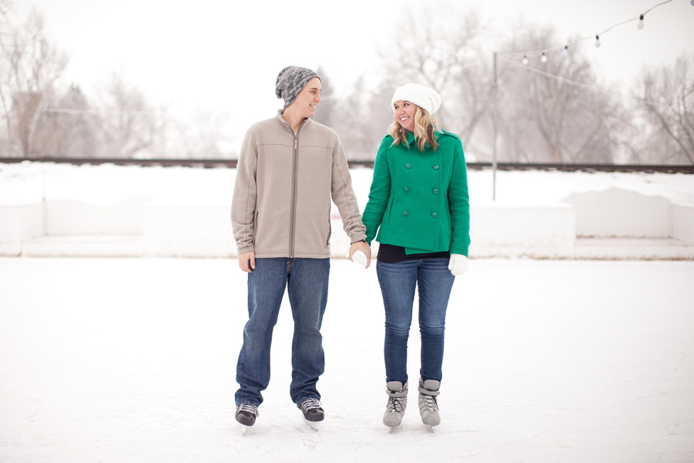 Colorado High School Sweetheart Ice Skating Engagement Session | Photograph by KB Digital Designs  https://storyboardwedding.com/colorado-high-school-sweetheart-ice-skating-engagement-session/