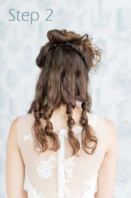 Gorgeous Wedding Hair Trickery - The Faux Bob Tutorial