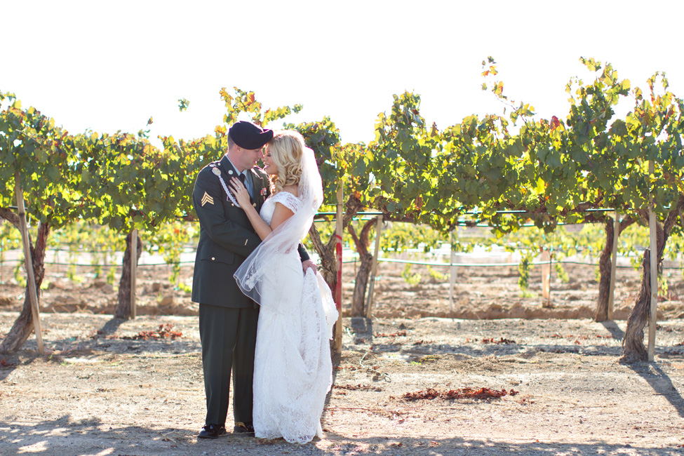 Military Elegance In A Clic Vineyard Wedding At Wiens Family Cellars Photograph By Courtney Mcmanaway