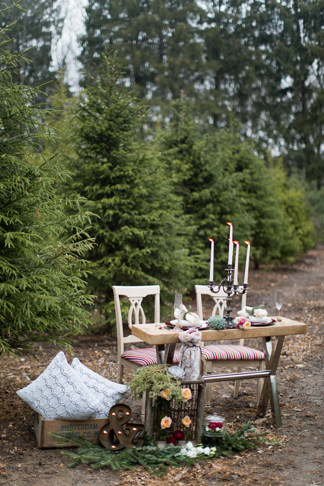 Holiday Wedding Magic At A Private Christmas Tree Farm Infused With Ballerina Charms | Photograph by Melissa Kruse Photography  http://storyboardwedding.com/holiday-wedding-christmas-tree-farm-ballerina/