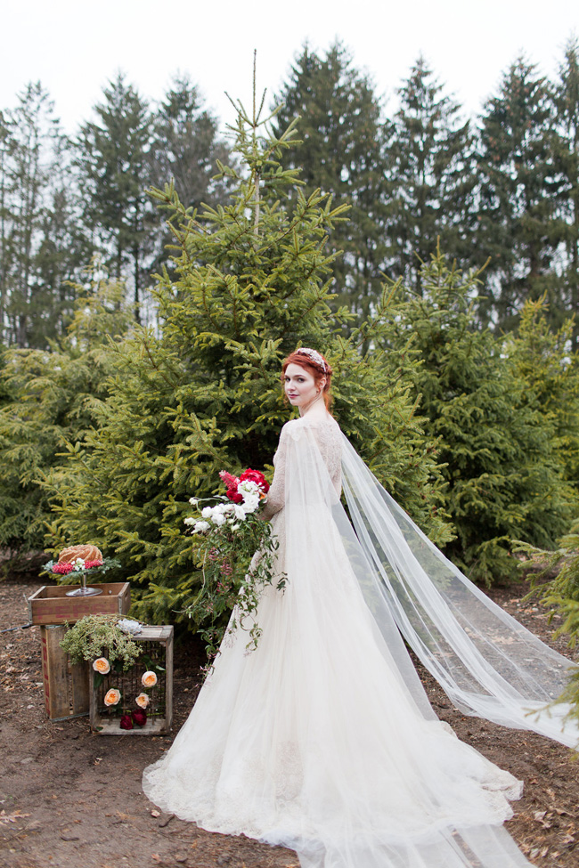 Christmas Tree Farm Weddings.Holiday Wedding Christmas Tree Farm Ballerina