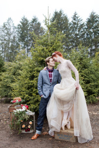Holiday Wedding Magic At A Private Christmas Tree Farm Infused With Ba...
