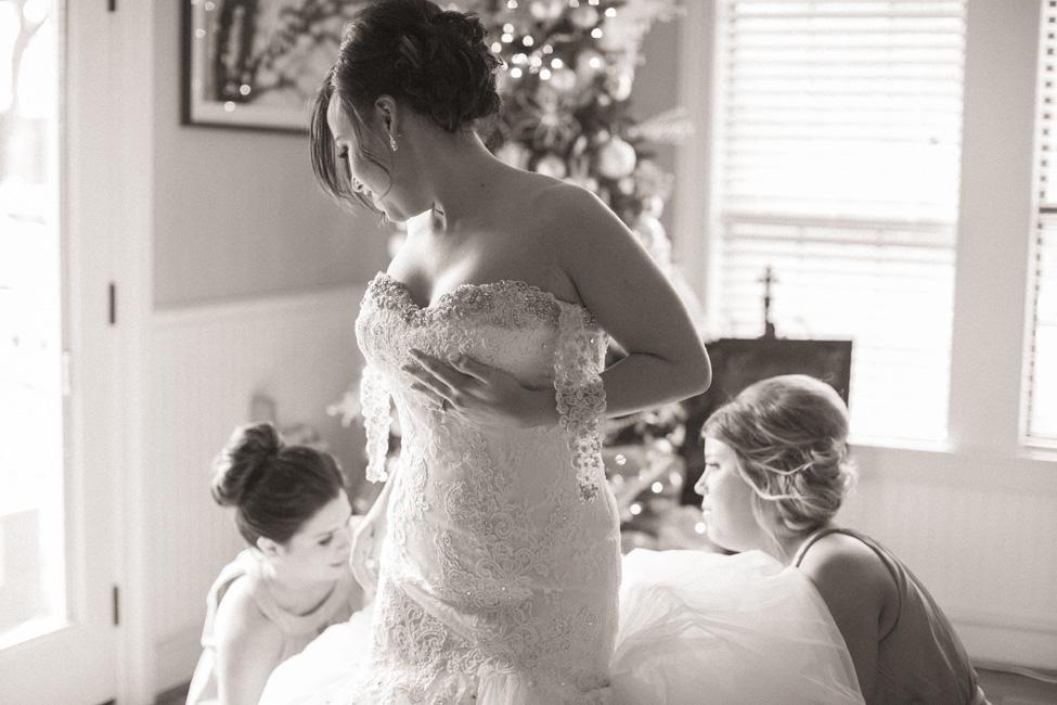 Winter Wonderland Inspired Christmas Wedding   Photograph by Luke and Cat Photography