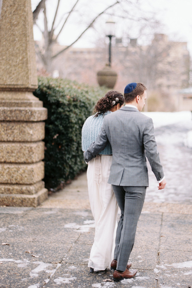 A Wintry Josephine Butler Parks Center Jewish Washington DC Wedding | Photograph by Snapshots by Katie  https://storyboardwedding.com/josephine-butler-parks-center-jewish-washington-dc-wedding/