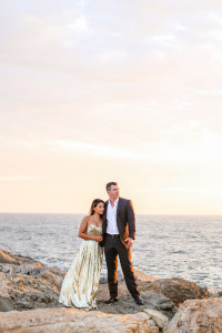 Chic Sunset Engagement Session On A Private California Beach