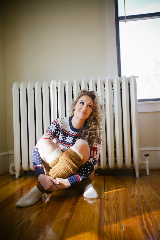 Holiday Spirit Christmas Sweater Boudoir   Photograph by Alyssa Andrew Photography