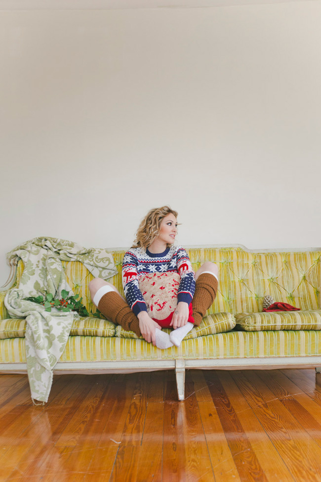 Holiday Spirit Christmas Sweater Boudoir | Photograph by Alyssa Andrew Photography
