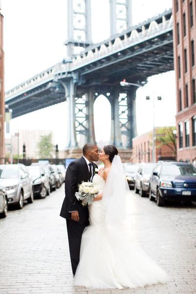 In The Heart of New York's Favorite Borough A Brooklyn Dumbo Wedding | Photograph by Melissa Kruse Photography  http://storyboardwedding.com/new-york-brooklyn-dumbo-wedding/