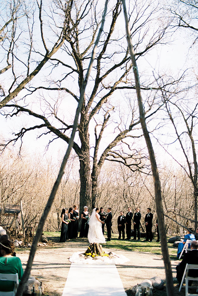 Black Tie Eclectic Woodland Wedding Set In Rustic Winnipeg Canada | Photograph by BLF Photography