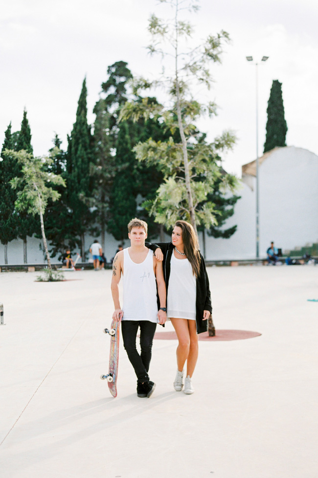 Ibiza Spain Skate Park Engagement Session | Photograph by Ana Lui Photography  http://storyboardwedding.com/ibiza-spain-skate-park-engagement-session/