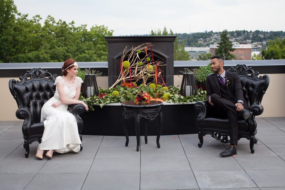 Harvest Hue Seattle Rooftop Wedding | Photograph by Vanasse Studios  http://storyboardwedding.com/harvest-hue-seattle-rooftop-wedding/