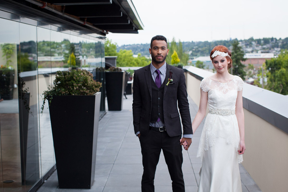 Harvest Hue Seattle Rooftop Wedding | Photograph by Vanasse Studios  https://storyboardwedding.com/harvest-hue-seattle-rooftop-wedding/