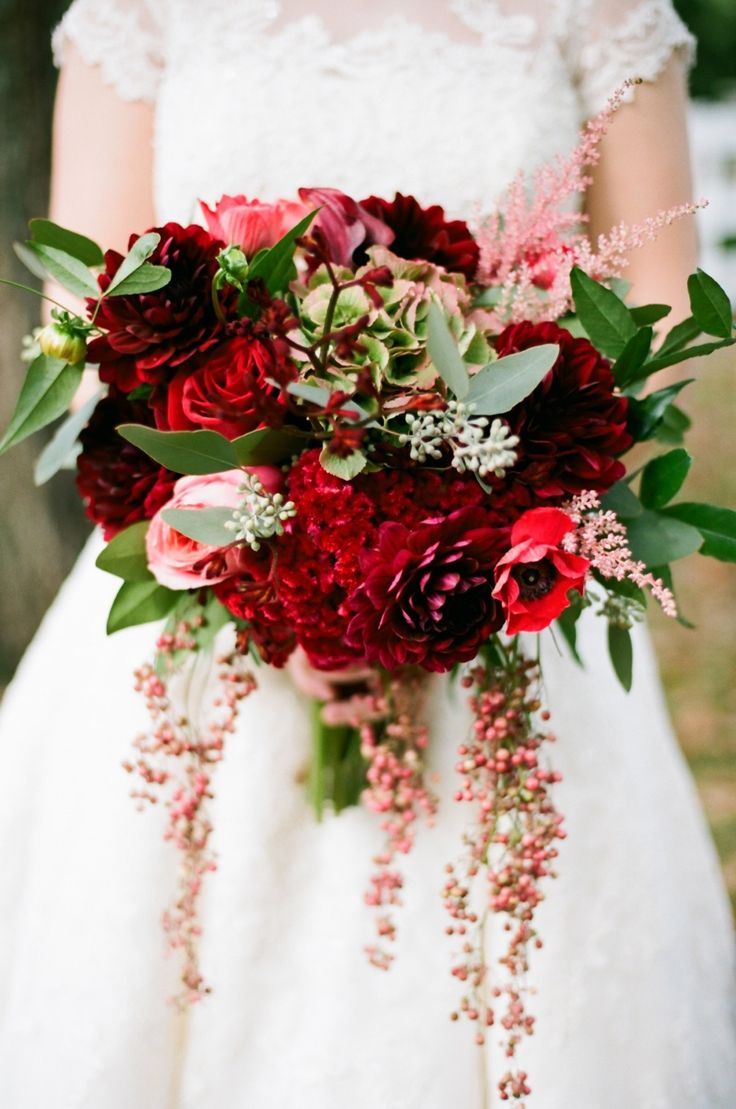 Deep Red Bouquet Jenna Henderson Photography