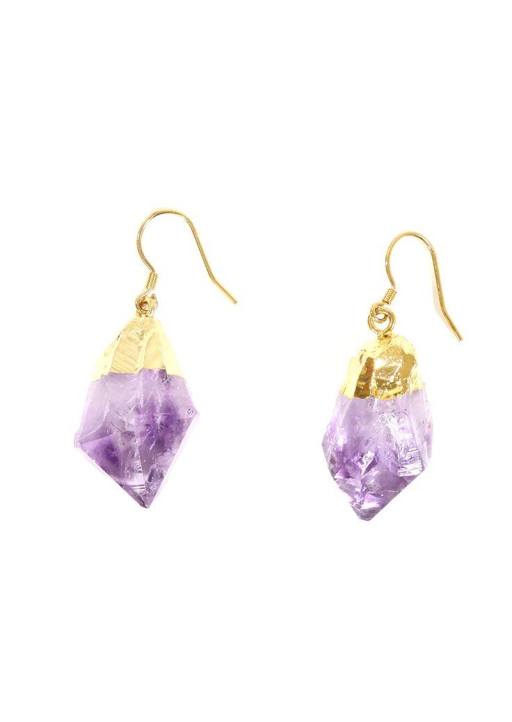 Geode Earrings Quartz Earrings