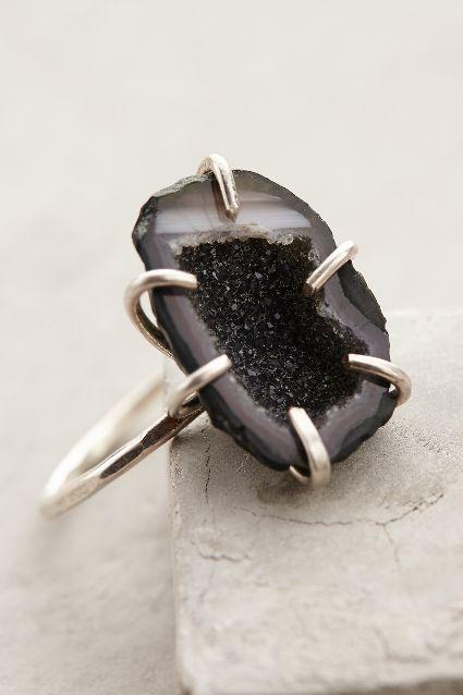 Geode Ring Black Shimmer