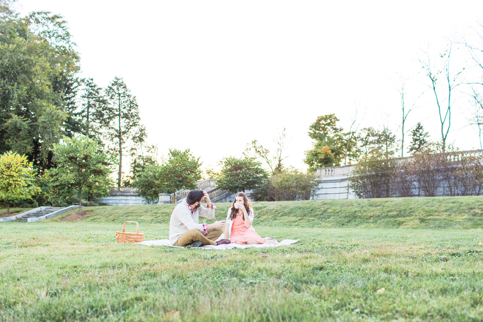 Vintage Tea Party Picnic Engagement Session | Photograph by Christy Nicole Photography  https://storyboardwedding.com/vintage-tea-party-picnic-engagement-session/