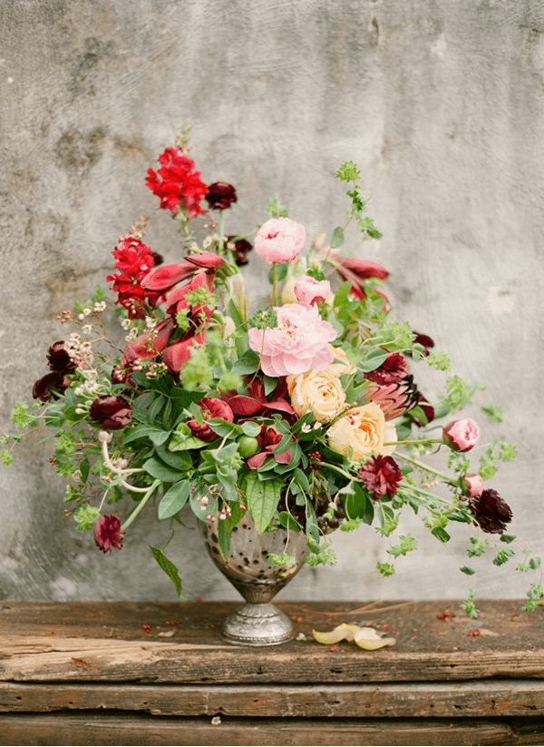 Rustic abstract mixed red flowers bouquet kt merry photography