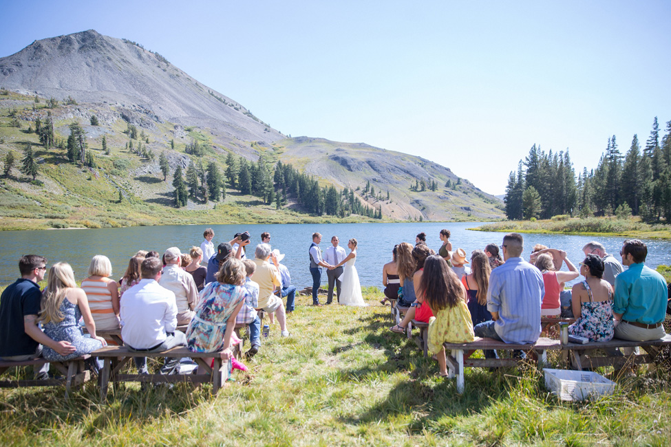 Private Mountain Wedding Nestled Lakeside Along The Sierra Nevada Mountains | Photograph by Kiel Rucker Photography   http://storyboardwedding.com/private-mountain-wedding-lake-sierra-nevada-mountains/