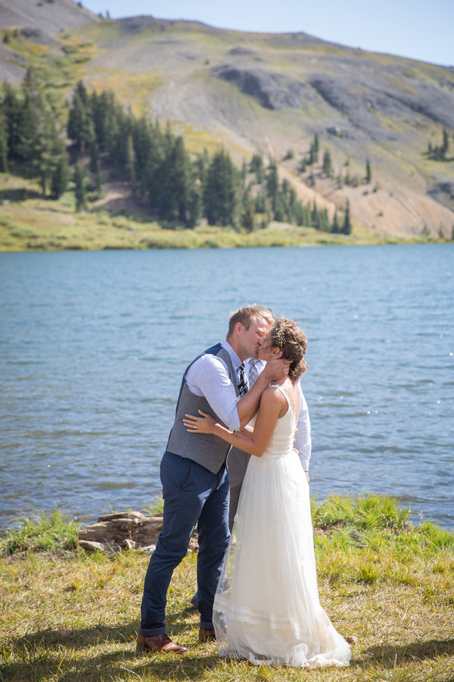 Private Mountain Wedding Lake Sierra Nevada Mountains