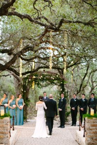 Romantic Sacred Oaks at Camp Lucy Texas Wedding Under Lush Oak Trees