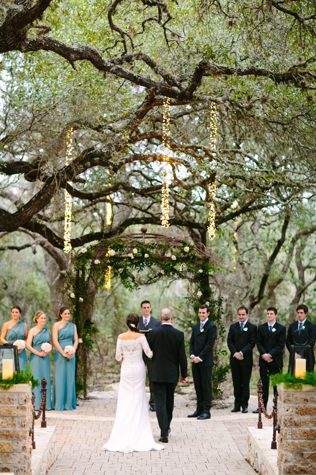 Romantic Sacred Oaks at Camp Lucy Texas Wedding Under Lush Oak Trees | Photograph by Al Gawlik Photography  https://storyboardwedding.com/sacred-oaks-at-camp-lucy-texas-wedding/