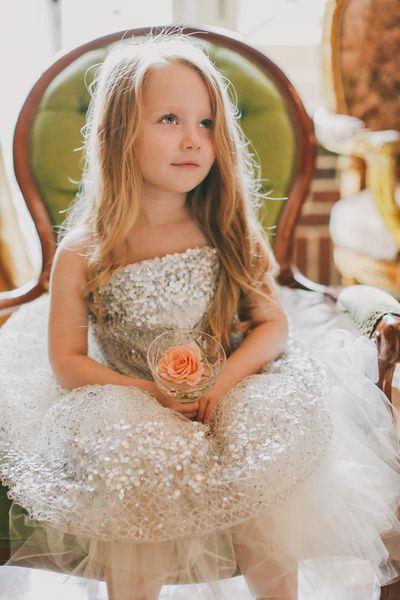 Doloris Petunia Constellation Flower Girl Dress Silver