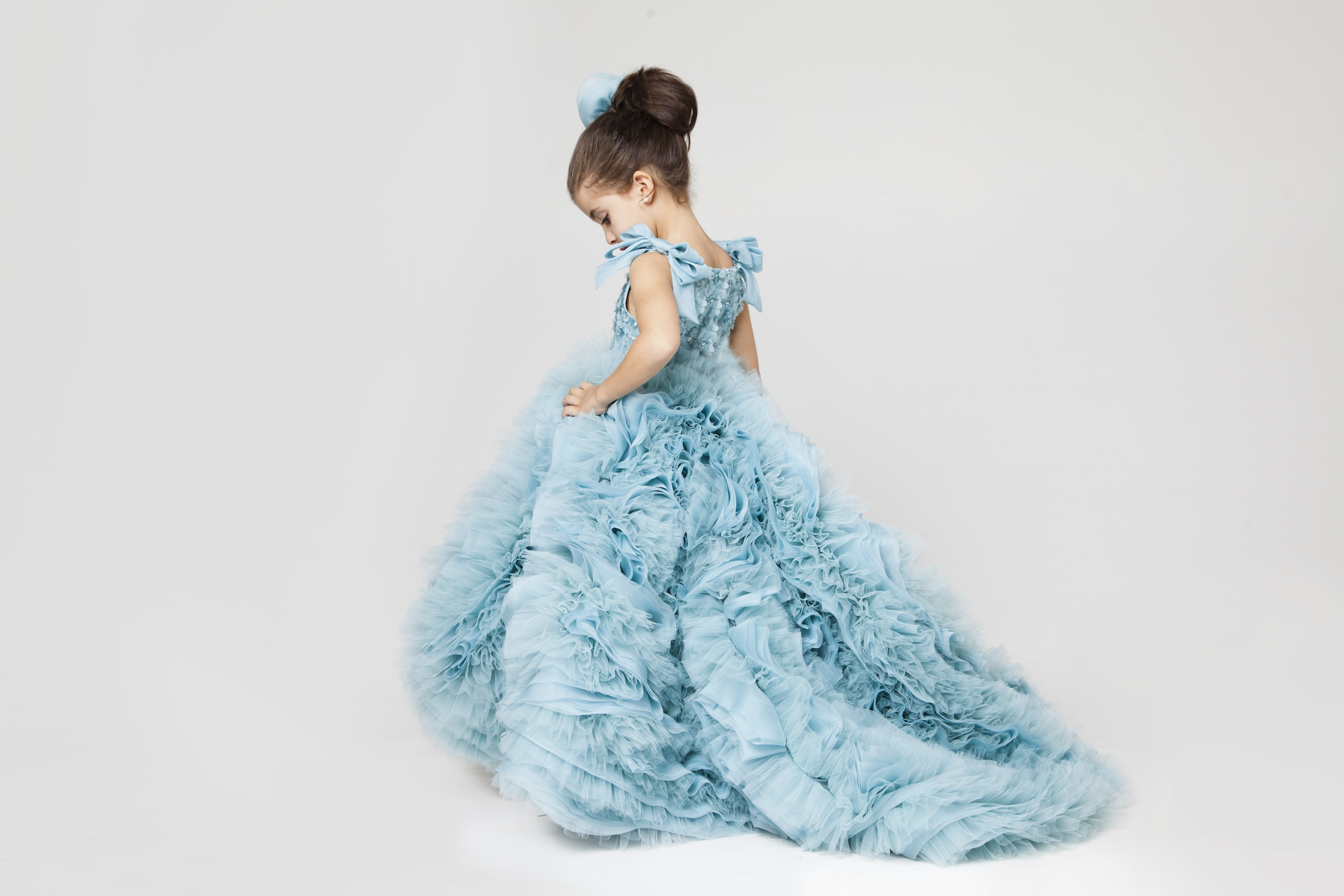 Krikor Jabotian Bluebell Flower Girl Dress