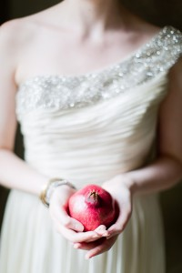 Pomegranate Inspired Chic Botanical Garden Wedding At Snug Harbor