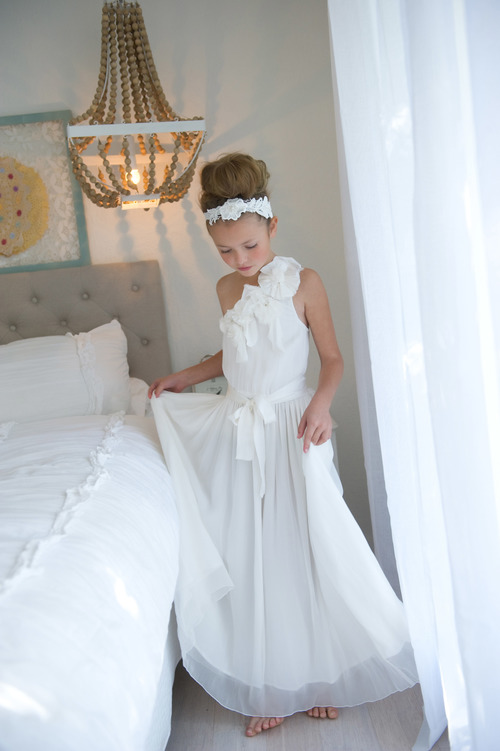 Tea Princess Paris Dress One Shoulder Flower Girl Dress