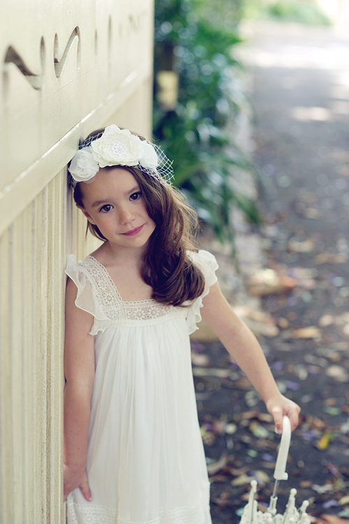 Tea Princess The Olive Dress Silk Crepe Boho Flower Girl Dress