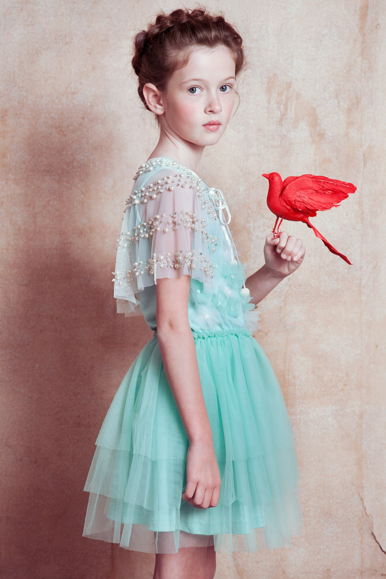 Tutu du Monde Flight of Fancy Turquoise Flower Girl Dress