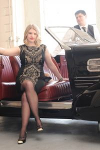 Michigan Style Gatsby Engagement At Bay City Motor Company