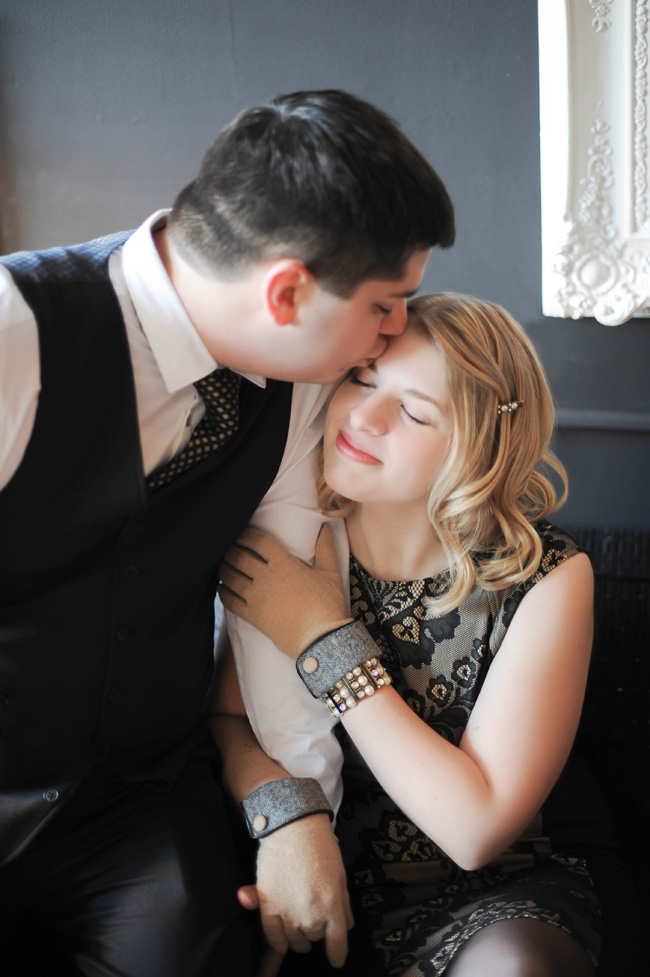 Michigan Style Gatsby Engagement At Bay City Motor Company | Photograph by JDHowell Photography  https://storyboardwedding.com/michigan-gatsby-engagement-bay-city-motor-company/