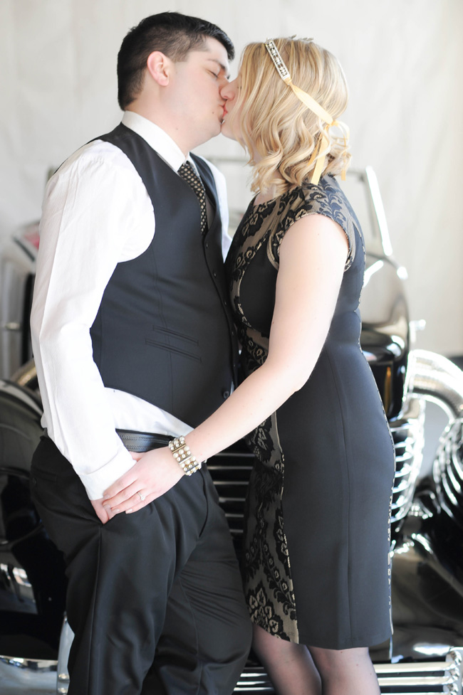 Michigan Style Gatsby Engagement At Bay City Motor Company | Photograph by JDHowell Photography  http://storyboardwedding.com/michigan-gatsby-engagement-bay-city-motor-company/