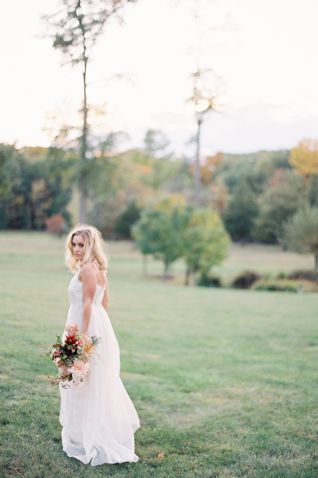 Rich Earth Tones Make For A Chic Bride In Jen Huang