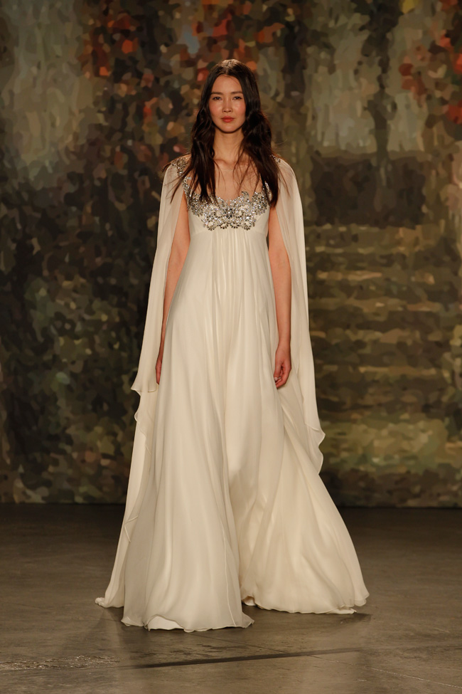 Jenny Packham Cape Wedding Dress