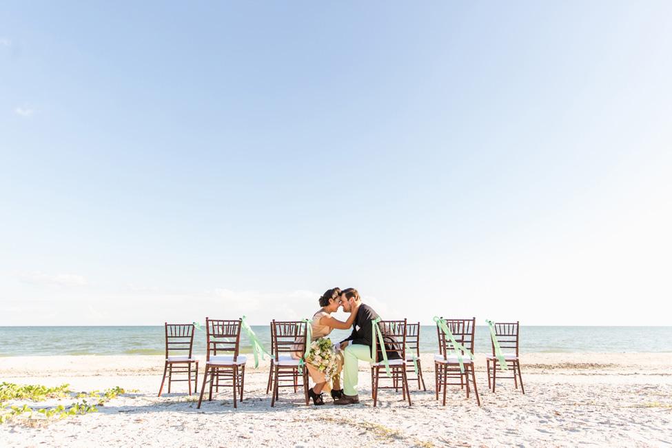 Preppy Retro Elopement Along the Florida Shoreline | Photograph by NikkiMayDay Photography  https://storyboardwedding.com/preppy-retro-elopement-florida-shoreline/