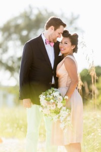 Preppy Retro Elopement Along the Florida Shoreline