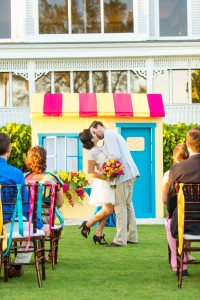 Colorful Florida Wedding At A Pop-Up Soda Shoppe