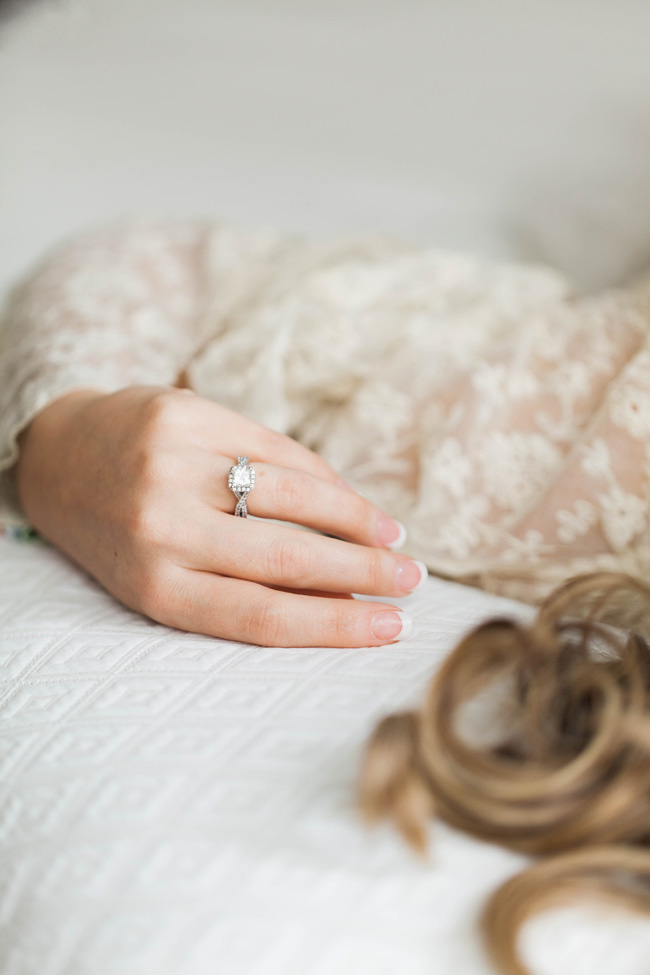 Sweetly Romantic & Feminine Embracing Bridal Boudoir | Photograph by Ashley Noelle Edwards Photographs  https://storyboardwedding.com/romantic-feminine-bridal-boudoir/