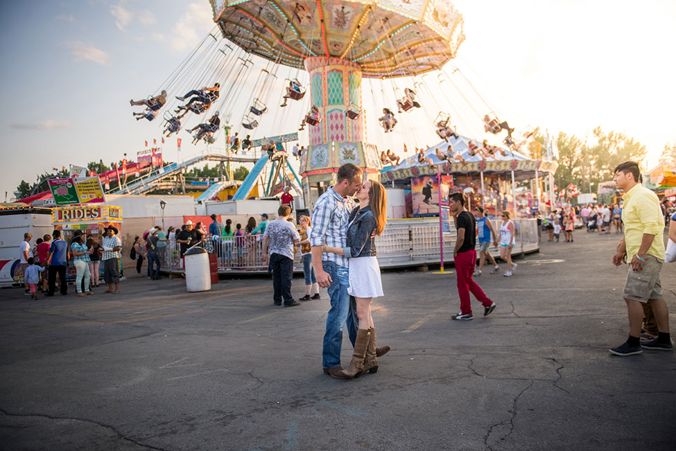 Sunset Amusement Park Engagement At Alberta